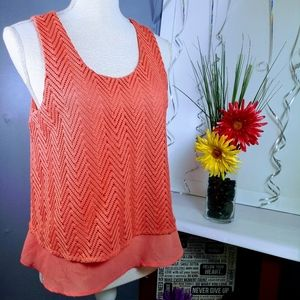 🆘2/$20 Candies Double Layered Flowy Tank Salmon